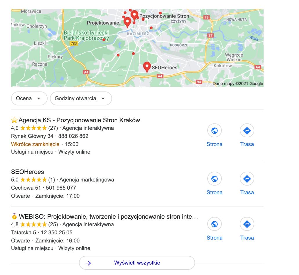 Widok pakietu lokalnego w wynikach wyszukiwania