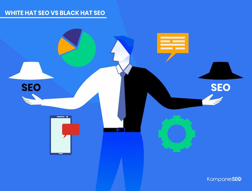 White hat vs black hat SEO.