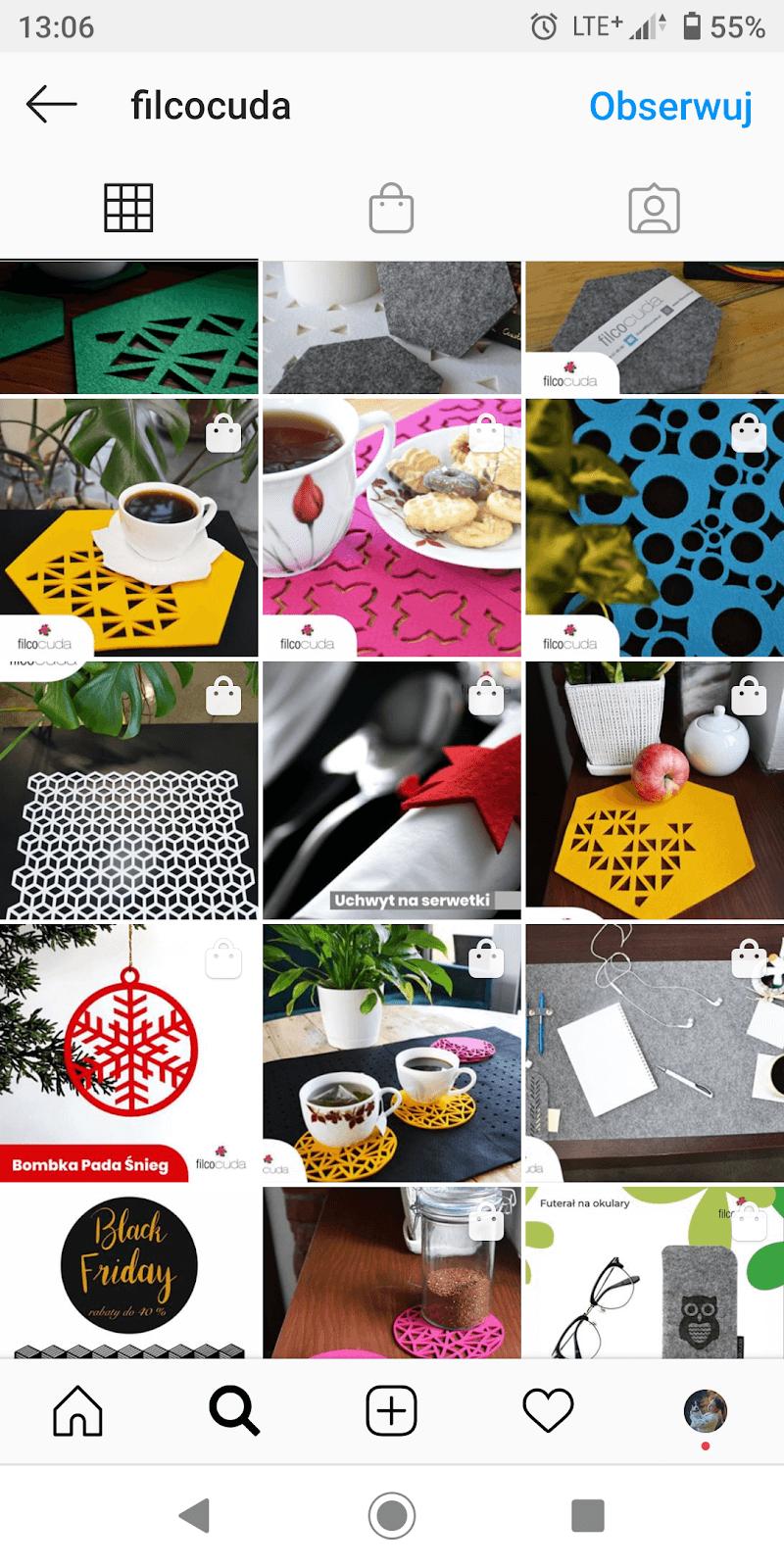 Sklep Instagram widoczność produktów