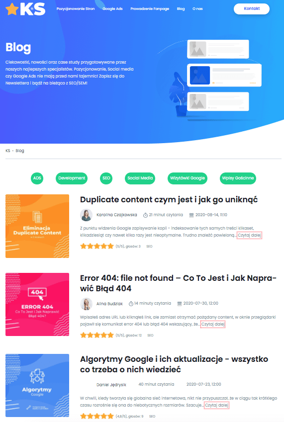 content marketing blog KS