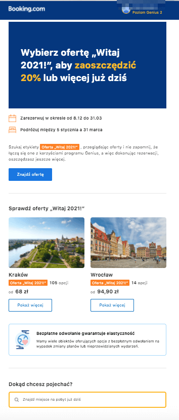 email marketing Booking