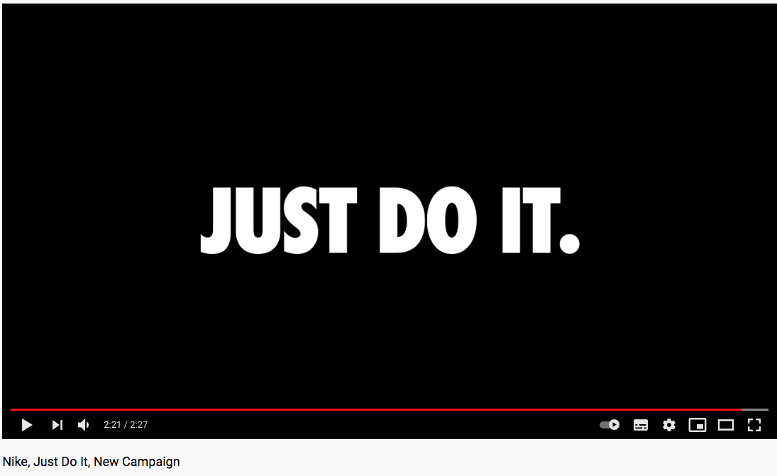 video makreting Nike