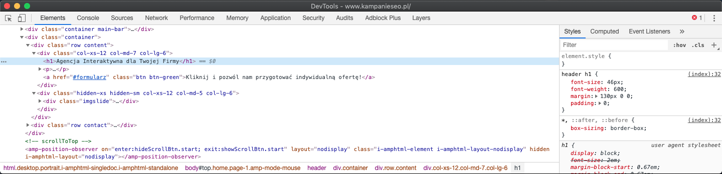 developer tools chrome