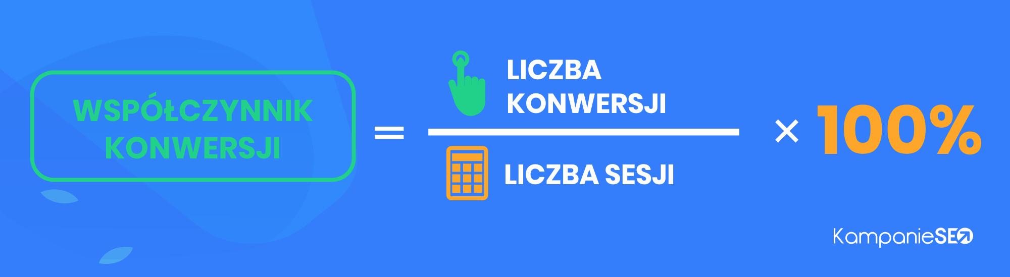 Jak liczony jest współczynnik konwersji w narzędziu Google Analytics