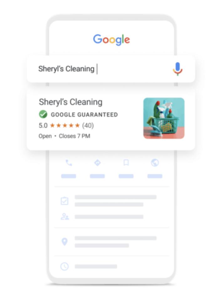 Odznaka Google Guaranteed w profilu firmy w Google