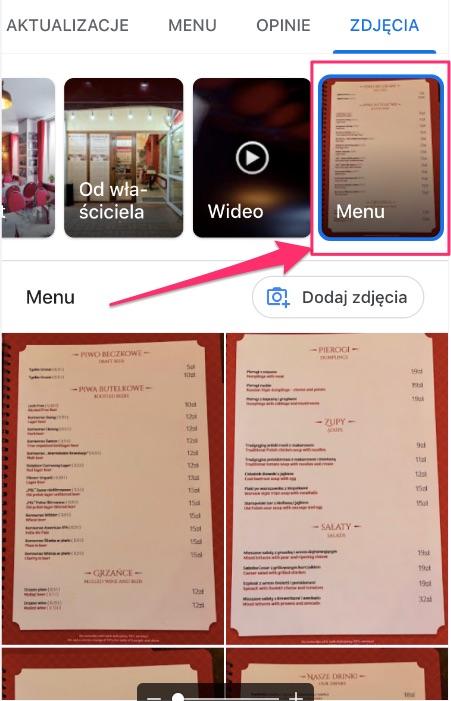 dodatkowa zakładka menu