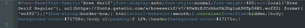 kod po minifikacji - usunięcie zbędnych znaków