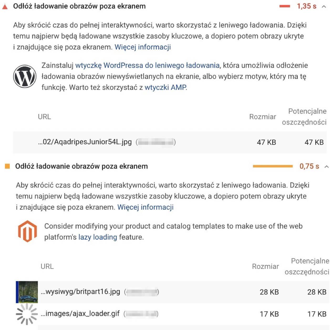 wytyczne jak przyspieszyć strone na Wordpressie i Magento
