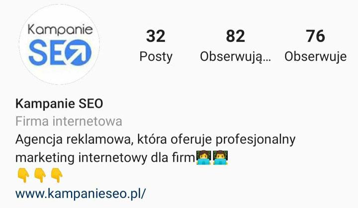Instagram, Bio - Agencja KS