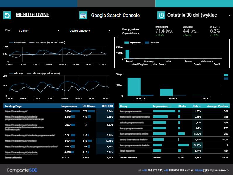 Google Search Console Strona 1