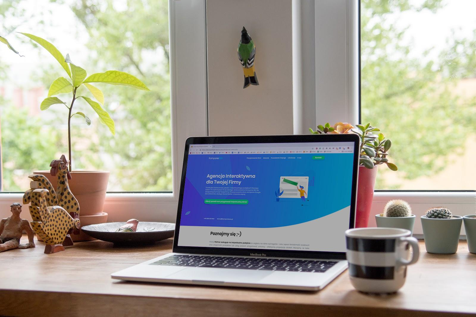 Laptop, strona internetowa KS