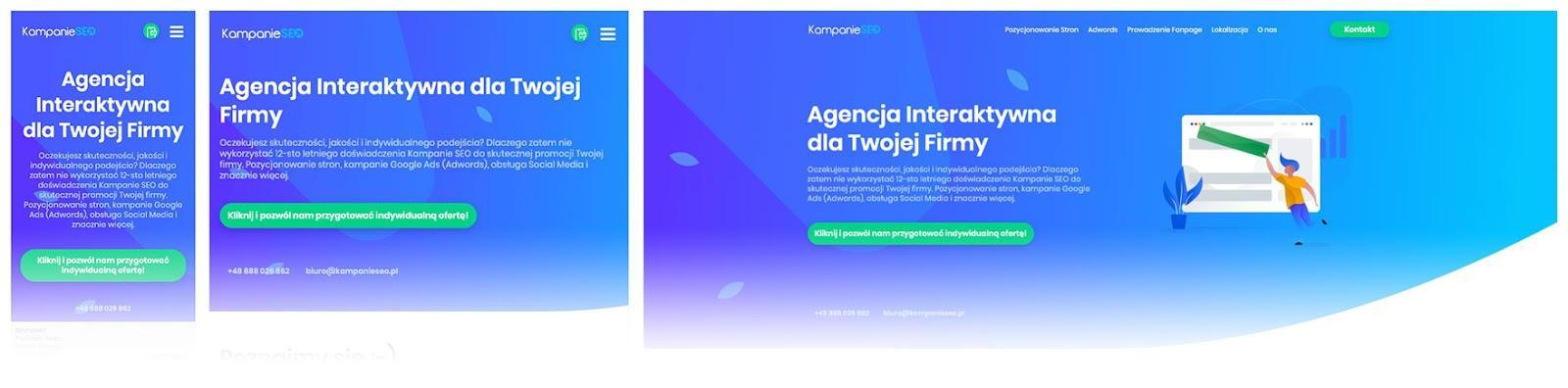Przykład - dobrze zaprojektowana strona internetowa