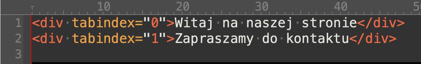 Przykład użycia atrybutu tabindex