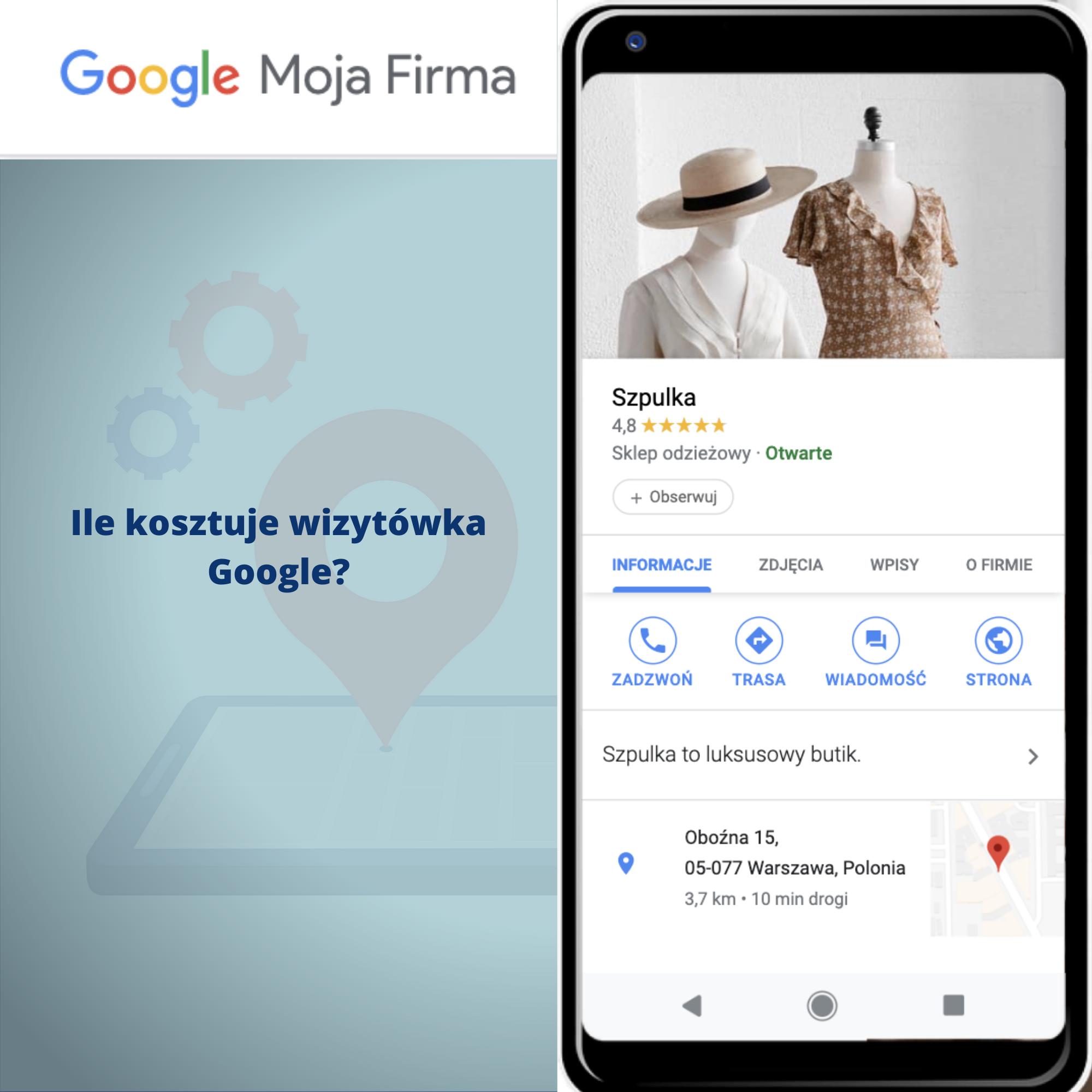 Ile kosztuje wizytówka Google?
