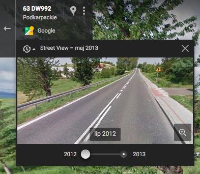 Google Street View - Wehikuł Czasu