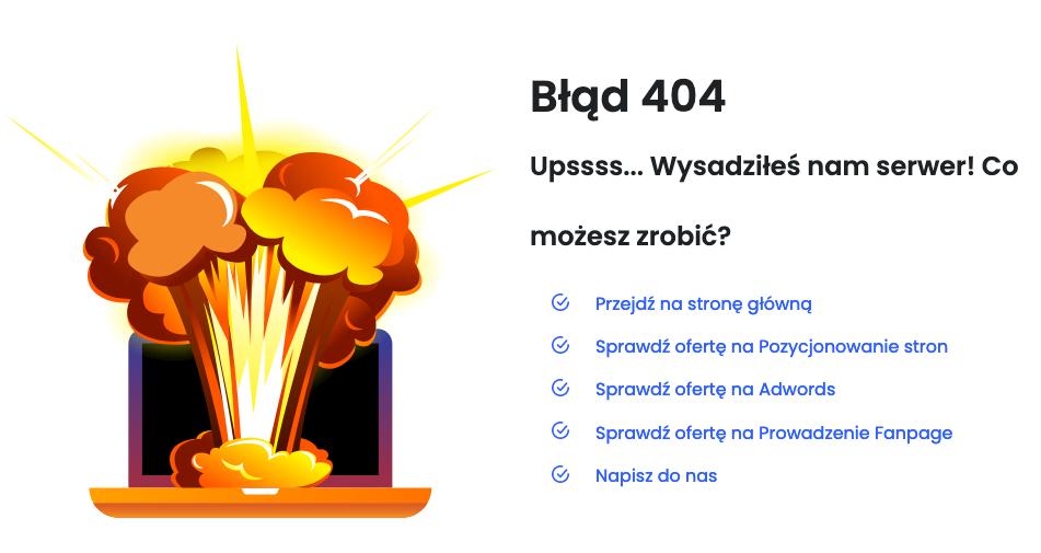 Wygląd strony błędu 404 na ks.pl